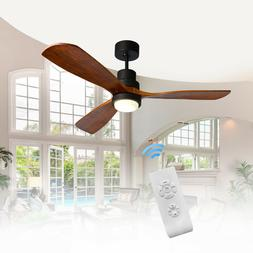 "52"" Bronze Ceiling Fan with LED Light Kit & Remote Control 3"