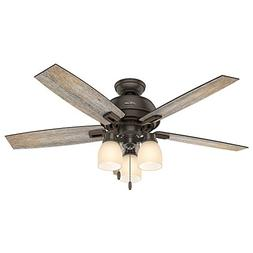 Hunter 53336 Casual Donegan Onyx Bengal Ceiling Fan With Lig