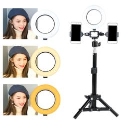 6'' Dimmable 5500K LED Ring Light Kit with Stand for Makeup