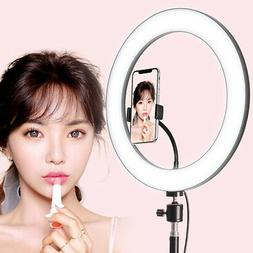 """6"""" Dimmable 5500K LED Ring Light Kit with Stand for Makeup P"""
