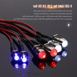 6 LED Light Kit 2 White 2 Red 2 Blue for 1/10 1/8 Traxxas HS