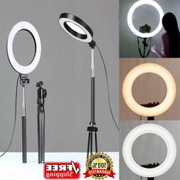 "6"" Phone Selfie LED Ring <font><b>Light</b></font> with Stan"