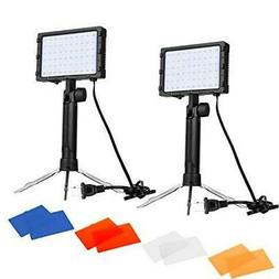 Emart 60 LED Continuous Portable Photography Lighting Kit fo