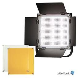 LimoStudio 600 LED Photo Video Light Barndoor Panel with Col
