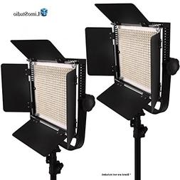 LimoStudio 2-Pack LED 600 Photographic Lighting Panel with D
