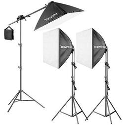 "Neewer 600W Pro Softbox Lighting Kit - 3 Packs 24x24"" Softbo"