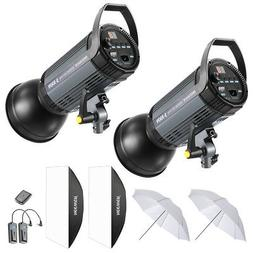 Neewer 600W Studio Strobe Flash Photography Lighting Kit wit