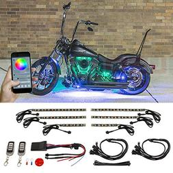 LEDGlow 6pc Advanced Million Color SMD LED Motorcycle Accent