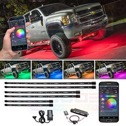 LEDGlow 6pc Million Color SMD LED Truck Underbody Underglow