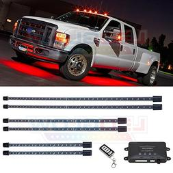 LEDGlow 6pc Red Wireless SMD LED Truck Underbody Underglow L