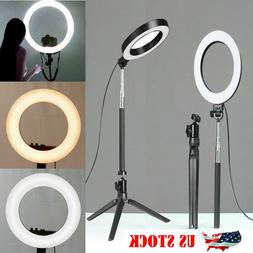 5500K LED Ring Light Dimmable Lamp Photography Camera Phone