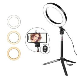 """8"""" LED Selfie Ring Light Kit With Tripod Stand Dimmable Make"""