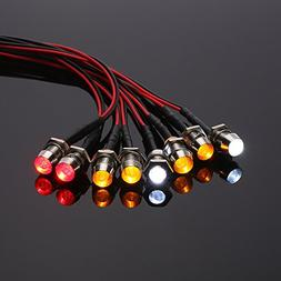 prorcmodel 8 LED Light Kit White Red Yellow for 1/10 1/8 Tra