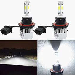 Alla Lighting 8000lm 9008 H13 LED Headlight Bulbs Xtreme Sup