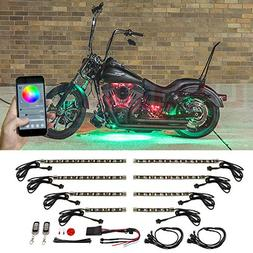 LEDGlow 8pc Advanced Million Color SMD LED Motorcycle Accent