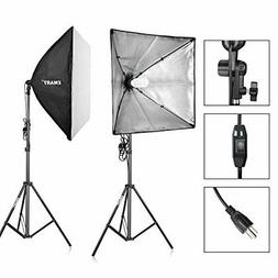 Emart 900W Output Softbox Photography Lighting Kit Photo Vid