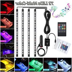 Car LED Strip Light for Cars,72 LED Car Interior Lights 12V
