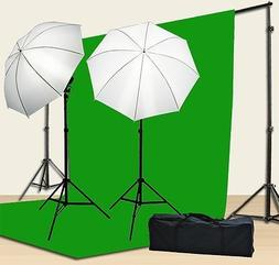 Chromakey Green Screen Kit 800w Photo Video Lighting Kit 10x