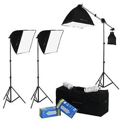DayFlo EZ Lite 3-Fixture Lighting Kit - Portable 3 Light Por