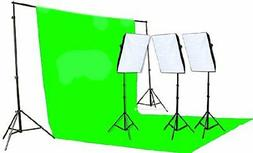 Fancierstudio 2400 Watt Chromakey Green Screen Video Lightin