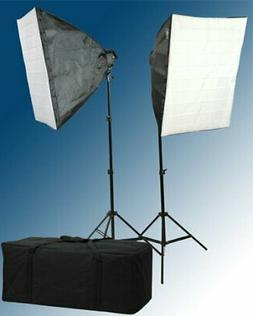 Fancierstudio 2600 Watt Softbox Lighting Kit Video Light Kit