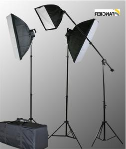 Fancierstudio 2800 Watt Lighting Kit With Boom Arm Hairlight