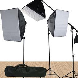 Fancierstudio 3800 Watt Softbox Video Lighting Kit Light Kit