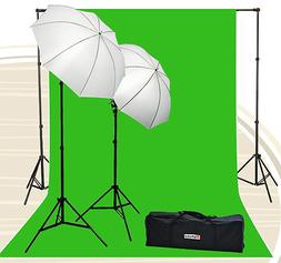 Fancierstudio Chromakey Green Screen Kit 800 watt 10x20 Ft C