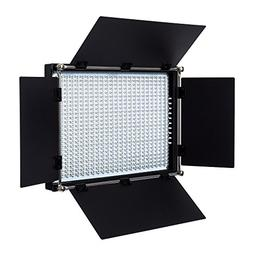Fovitec - 1x Daylight 650 LED Panel w/Barndoor & Filters -