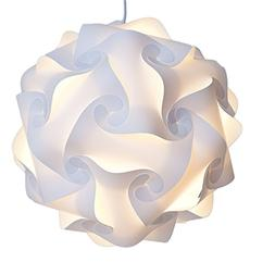 INFINITY LIGHTS Puzzle Light: White Modern Lamp Shade, X-Lar