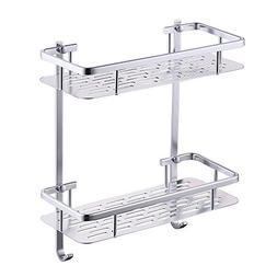 KES Bathroom Shelf, Shower Shelf Basket 2 Tier 12 Inch Alumi