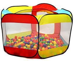 Kiddey Ball Pit Play Tent for Kids - 6-Sided Ball Pit for Ki