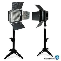 LimoStudio 2PC LED 160 Photographic Lighting Kit, Photo Stud