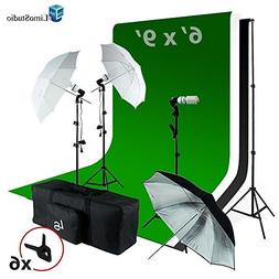 LimoStudio 6 x9 ft White/Black / Green Chromakey Fabricated