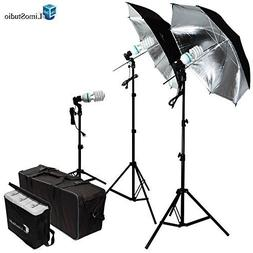 LimoStudio 600W Photography Triple Photo Umbrella Light Ligh