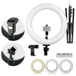 LimoStudio LED Ring Light 18-inch Diameter with Tripod Stand