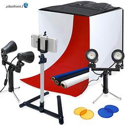 "LimoStudio Photography Table Top Photo Light Tent Kit, 24"" P"