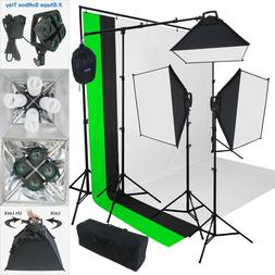 Linco Lincostore 2000 Watt Photo Studio Lighting Kit With 3
