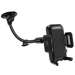 Mpow Cell Phone Holder for Car, Windshield Long Arm Car Phon