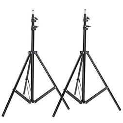 Neewer Two Aluminum Photo/Video Tripod Light Stands For Stud
