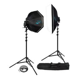 Rapid Box 2-Light Kit w/Beauty Dish Deflector Plate & Carry