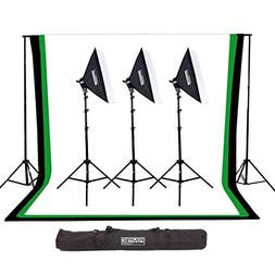 Fovitec - 1x Complete Photography & Videography Studio Kit w