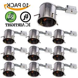 """Sunco Lighting 10 PACK - 6"""" inch Remodel LED Can Air Tight I"""
