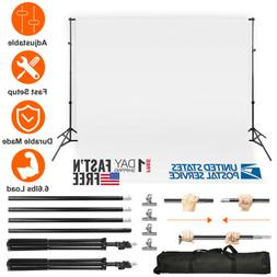 New 10Ft Adjustable Background Stand Kit For Photography wit