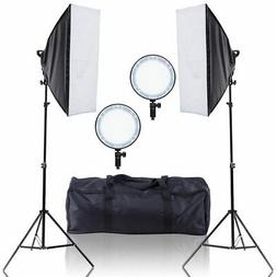 Adjustable Bright LED Softbox Continuous Lighting Studio w/