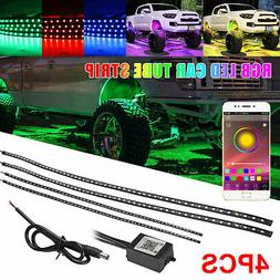 APP Control LED Strip Under Car Tube underglow Underbody Sys