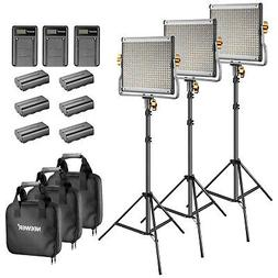 Neewer Bi-color LED 480 Video Light and Stand Kit with Batte