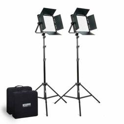 Fovitec - 2X Bi Color 600 XB LED Panel Kit w/Stands & Cases