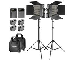 Neewer 2 Pack Bi-color 660 LED Video Light and Stand Kit - Y