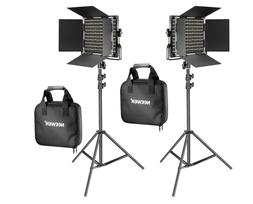 Neewer 2 Pack Bi-color 660 LED Video Light and Stand Kit - S